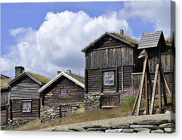Old Houses In Roeros Canvas Print by Thomas M Pikolin