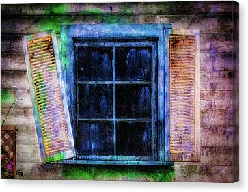 Haunted House Canvas Print - Old Huanted House Window by Garry Gay