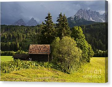 Canvas Print featuring the photograph Old Hut In Austria by Yuri Santin