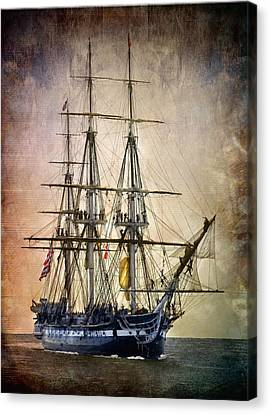 Tall Ship Canvas Print - Old Ironsides by Fred LeBlanc