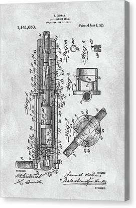 Old Jackhammer Patent Canvas Print by Dan Sproul