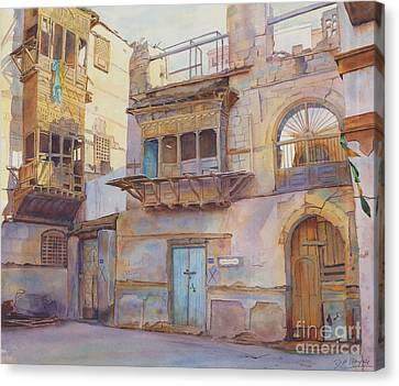 Arabia Canvas Print - Old Jeddah by Dorothy Boyer