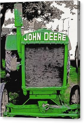 Old John Deere Tractor - Utah State Fair Canvas Print by Steve Ohlsen