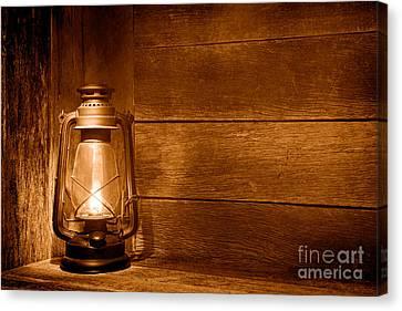 Old Kerosene Light - Sepia Canvas Print