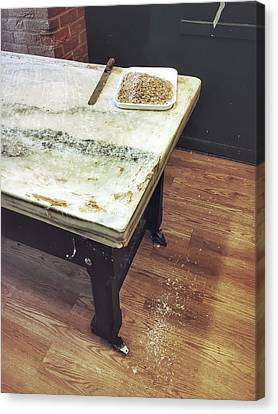 Old Kitchen Table Canvas Print