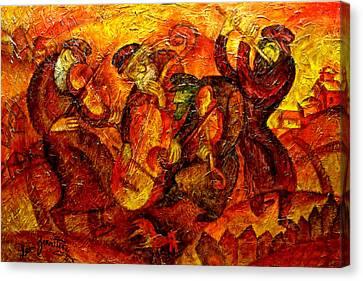 Old Klezmer Band Canvas Print by Leon Zernitsky