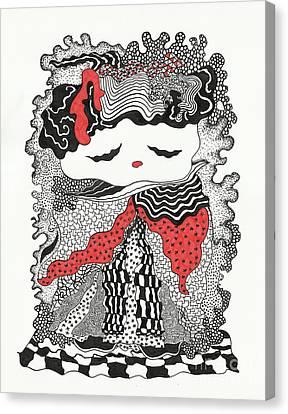 Old Lady Canvas Print by Fla Arakaki