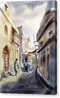 Old Lahore Canvas Print by MKazmi Syed