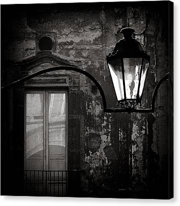 Old Lamp Canvas Print by Dave Bowman