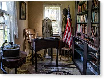 Canvas Print featuring the photograph Old Library by Ann Bridges