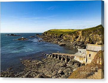 Canvas Print featuring the photograph Old Life Boat Station by Brian Roscorla