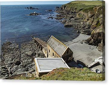 Canvas Print featuring the photograph Old Lifeboat Station by Brian Roscorla
