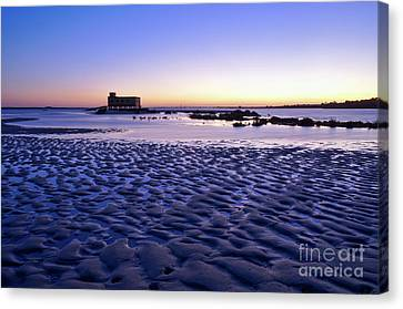 Old Lifesavers Building Covered By Twilights Blue Light Canvas Print by Angelo DeVal
