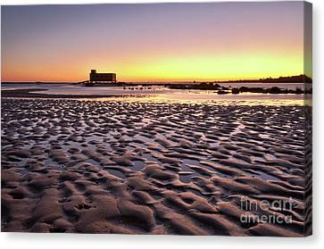 Old Lifesavers Building Covered By Warm Sunset Light Canvas Print by Angelo DeVal