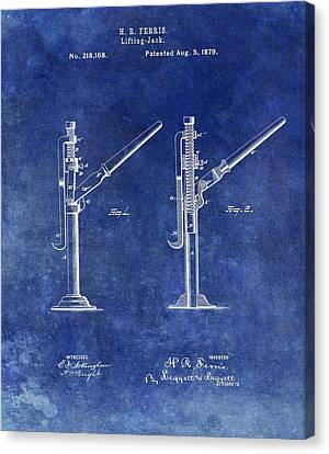 Old Lift Jack Patent Canvas Print by Dan Sproul