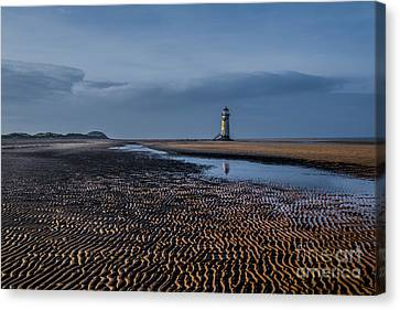 Old Lighthouse In Talacre  Canvas Print