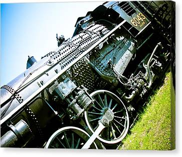 Old Locomotive 01 Canvas Print by Michael Knight