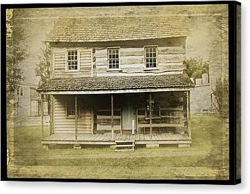 Canvas Print featuring the photograph Old Log Cabin by Joan Reese