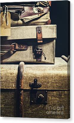 Old Luggage - Natalie Kinnear Photography Canvas Print