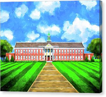 Canvas Print featuring the mixed media Old Main - Andalusia High School by Mark E Tisdale