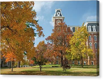 University Of Arkansas Canvas Print - Old Main At The University Of Arkansas During Fall by Gregory Ballos