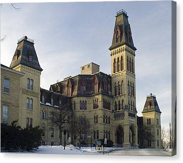 Canvas Print featuring the photograph Old Main At Woods Wisconsin by Peter Skiba