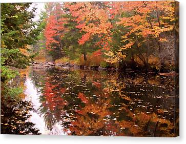 Canvas Print featuring the photograph Old Main Road Stream by Jeff Folger
