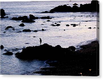 Canvas Print featuring the photograph Old Man And The Sea by Jan Cipolla