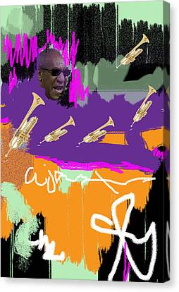 Canvas Miles Davis Talks with Bill Cosby Art print POSTER