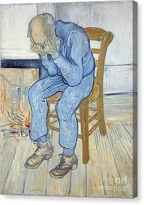 Old Man In Sorrow Canvas Print by Vincent van Gogh