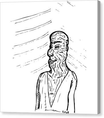 Old Man Canvas Print by Karl Addison