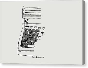 Old Manual Typewriter Canvas Print by Sheri Buchheit