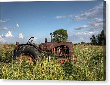 Old Massey-harris Tractor Canvas Print