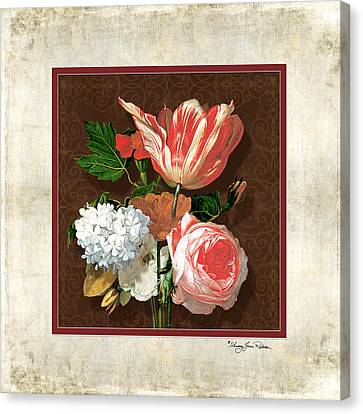 Old Masters Reimagined - Parrot Tulip Canvas Print by Audrey Jeanne Roberts