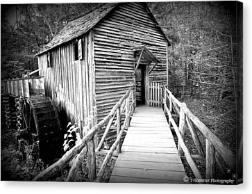 Old Mill 1 Canvas Print by Todd Hostetter