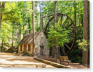 Canvas Print featuring the photograph Old Mill At Berry College by Michael Sussman