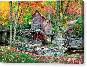 Covered Bridges Canvas Print - Old Mill by Emmanuel Panagiotakis