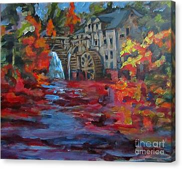 Old Mill In Autumn Canvas Print by John Malone
