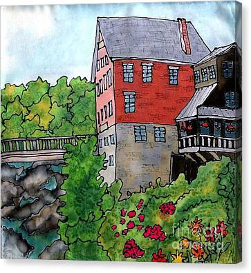 Old Mill In Bradford Canvas Print by Linda Marcille