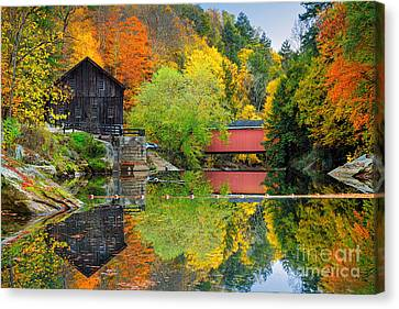 Old Mill In The Fall  Canvas Print