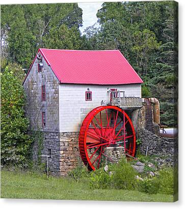 Old Mill Of Guilford Squared Canvas Print by Sandi OReilly