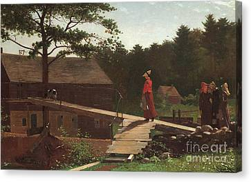 Old Mill, The Morning Bell, 1871 Canvas Print by Winslow Homer