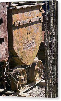 Old Mining Car Canvas Print