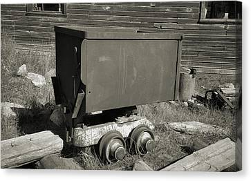 Old Mining Cart Canvas Print