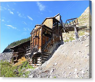 Old Mining Shaft Canvas Print by Jeff Swan