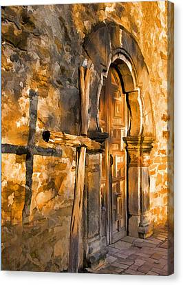 Old Mission Cross Canvas Print by Dennis Cox WorldViews