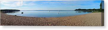 Old Mission Harbor Canvas Print by Twenty Two North Photography