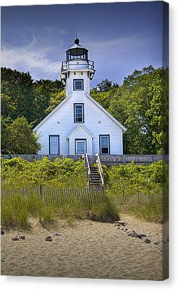 Old Mission Point Lighthouse In Grand Traverse Bay Michigan Number 2 Canvas Print