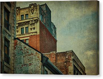 Old Montreal - Architectural Details Canvas Print by Maria Angelica Maira