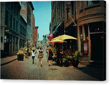 Old Montreal - Quebec Canvas Print by Maria Angelica Maira